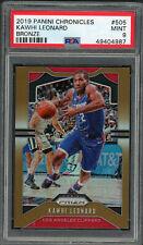 Kawhi Leonard Clippers 2019 Panini Chronicles Bronze Basketball Card #505 PSA 9