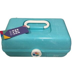 Caboodles On-The-Go Girl Retro Travel Makeup Case Sea Foam Marble