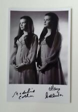 "HAMMER HORROR - Actress Mary Madeline Collinson Twins Reproduced Autograph 6""X4"""