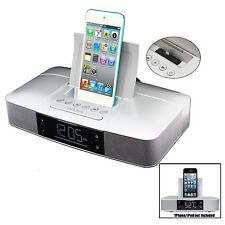 iPOD TOUCH 6TH NANO 7TH iPHONE 5 6 6S 7 8 DOCK DOCKING STATION SPEAKER SYSTEM