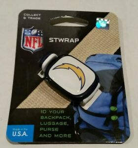 Los Angeles Chargers Stwrap bag luggage backpack ID strap accessory