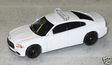 Greenlight 1/64 2012 Dodge Charger Police Car Blank White - Great 4 Customs