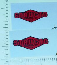 Structo Red//Black Replacement Door Stickers        ST-095
