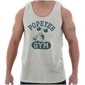 Vintage Funny Cartoon Popeye Workout Gym Gift Adult Tank Top Sleeveless A-Shirt