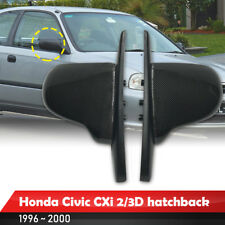 Fit 1996-2000 Honda Civic 2/3DR Hatchback Carbon+ABS Bracket Spoon Manual Mirror