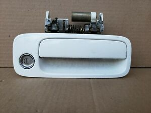 1999-2003 TOYOTA SOLARA RIGHT PASSENGER OUTER DOOR HANDLE PEARL WHITE OEM