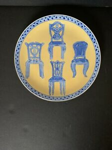 """ORIENTAL ACCENT 10"""" Decorative Plate of Various Styles & Same Colors of Chairs"""