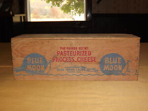 VINTAGE BLUE MOON FOODS THORP WIS WOOD AMERICAN CHEESE BOX