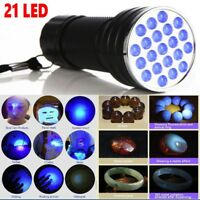 UV 21LED Flashlight Blacklight Ultra Violet Light 395nM Inspection Lamp Torch