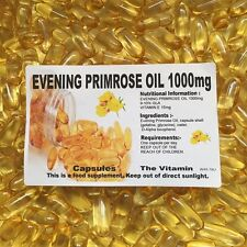 "EVENING PRIMROSE OIL 1000mg  365 Capsules 1 per day ""FREE POSTAGE"" (L)"