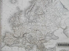 Map of Europe. 1814. Constable. Genuine.