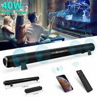 TV Home Theater 40W Soundbar Bluetooth 5.0 Sound Bar Speaker System Subwoofer