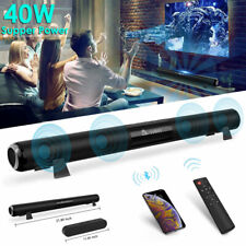 TV Home Theater 40W Soundbar Bluetooth 5.0 Sound Bar Speaker System Subwoofer