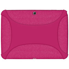 Amzer Soft Rubber Skin Fit Case Cover for Samsung Galaxy Tab 3 10.1 Hot Pink