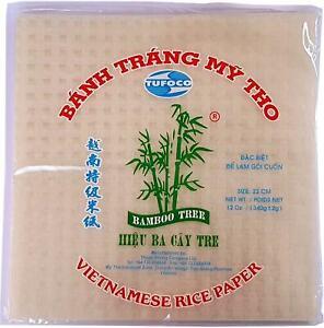 Bamboo Tree Vietnamese Rice Paper (22 CM - Square) - 340g