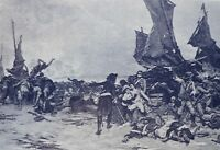 1897  Antique Art Print The Battle of Quiberon from the painting by P Outin