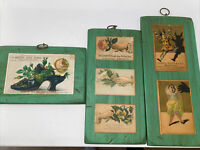 Hand crafted Vintage Postcard Plaques- Handcrafted On Wood
