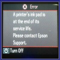 EPSON  Expression Premium XP-510 WAISTE INK PAD ERROR RESET TOOL (5 to 60 minute
