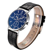 Fashion Women Mens Geneva Casual Watches Quartz Leather Band Analog Wrist Watch
