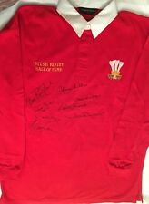 Welsh Rugby Hall Of Fame Wales Rugby Shirt 8 Signatures Jenkins Matthews Etc