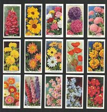 CIGARETTE CARDS. Wills Tobacco. GARDEN FLOWERS. (1939). (Complete Set of 50).