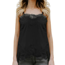 Women Fashion Tank Tops Lace Sexy Vest Blouse Camisole Sleeveless Casual T-Shirt
