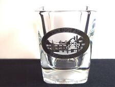 Square souvenir shot glass The Inn at Semi-Ah-Moo Blaine Washington gold detail