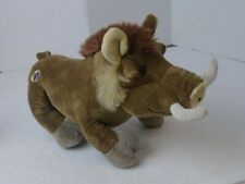 "Ganz Webkinz WARTHOG 10"" Plush  Stuffed Animal HM446 Warthog brown no code"