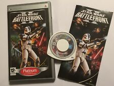 SONY PSP PORTABLE PLAYSTATION GIOCO STAR WARS BATTLEFRONT II/2 COMPLETO