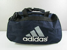 ADIDAS Black White Blue Duffle Travel Sports Gym Carry On Shoulder Bag