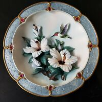 """The Bradford Exchange Plate #1 Lena Liu's """"Morning Jewels"""" 3D Collector Plates"""