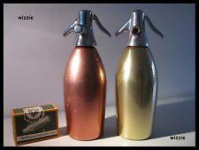SERGIO ASTI : 2x Soda Syphon Seltzer / SACCAB Milano Italy / Vintage 1960's