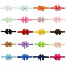 20pcs Baby Girls Headbands Grosgrain Ribbon Boutique Hair Bow for Teens/Toddler