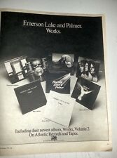 ELP  Works 1978  Poster size Press ADVERT 12x10 inches