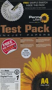 Permajet Test Pack 1 - Inkjet Photo Paper - A4 - 20040 + sample swatch pack