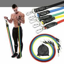[HIGH QUALITY] 11pcs Set Resistance Bands Workout Exercise Fitness Yoga Tubes UK