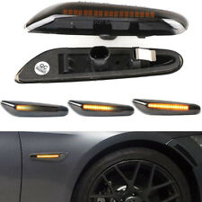 2X LED Turn Signal Lights Dynamic Smoked Side Indicator Fit for BMW E90 E92 E60