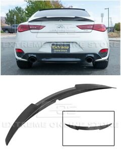 For 17-Up Infiniti Q60 | M4 Style High Kick CARBON FIBER Rear Trunk Wing Spoiler