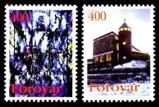 Faroe Islands 1995 Christmas St Mary's Church Torshavn set, UNM / MNH