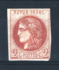 "FRANCE STAMP TIMBRE 40 B "" CERES BORDEAUX 2c BRUN-ROUGE "" NEUF x TB SIGNE  R534"