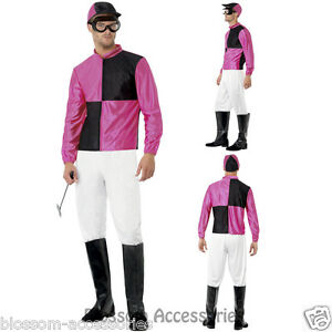 Horse Racing Happy Mascot Mens Fancy Dress Costume Party Stag Outfit OS