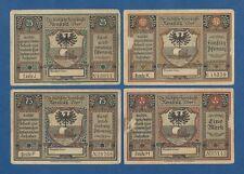 ALEMANIA // GERMANY -- NOTGELD -- NEUSALZ -- 25-50-75 PF. & 1 M. ( 1920 ) -- XF