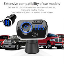 KFZ Bluetooth FM Transmitter Auto Bluetooth Freisprechanlage MP3 Player Dual USB
