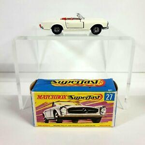 Matchbox Superfast No.27 ~ Mercedes-Benz 230 SL ~  With Original Box (Lesney)