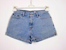 LEVIS Womens Vtg Retro Denim High Waist Blue Jeans Shorts Hot Pants sz L BA21