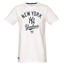 T-SHIRT NEW ERA TG. S NY NEW YORK COLLEGE TEE BIANCO BLU MAGLIA UOMO BASEBALL