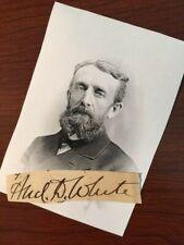 ANDREW D. WHITE SIGNED SLIP FOUNDER CORNELL, MORMONISM, 1ST HARVARD/YALE REGATTA