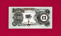ONE POUND REPUBLIC OF BIAFRA UNC BANKNOTE (P-5a) (1968 - 1969) AFRICAN BANKNOTE