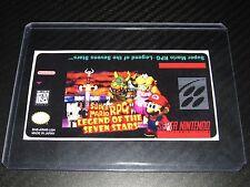 Super Mario RPG Snes Cartridge Replacement Game Label Sticker Precut