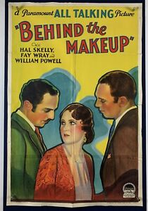 BEHIND THE MAKEUP Movie Poster One Sheet William Powell Fay Wray Hal Skelly 1930